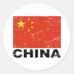 China Vintage Flag Round Sticker