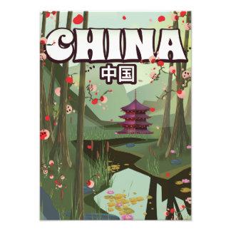 China Water Gardens cartoon poster