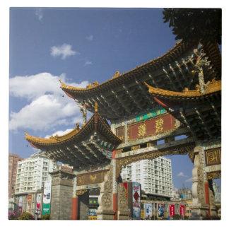 CHINA, Yunnan Province, Kunming. Memorial Arch Tile
