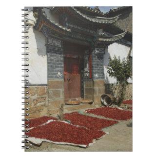 CHINA, Yunnan Province, Tianshengying. Drying Spiral Notebook