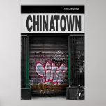 Chinatown Graffiti Poster