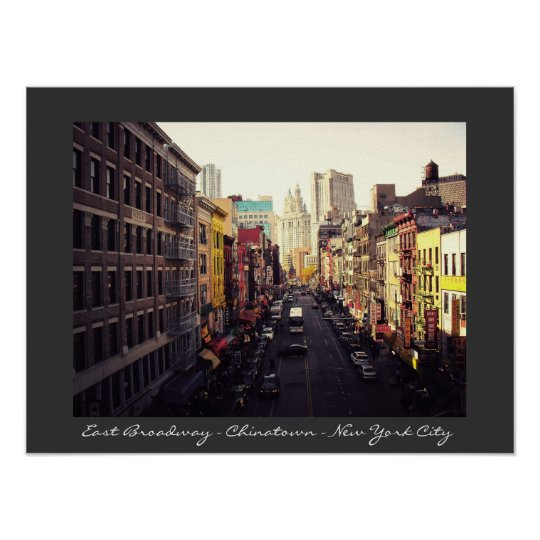 Chinatown  - New York City Poster