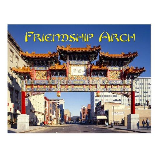 Chinatown's Friendship Archway in Washington, D.C. Postcard
