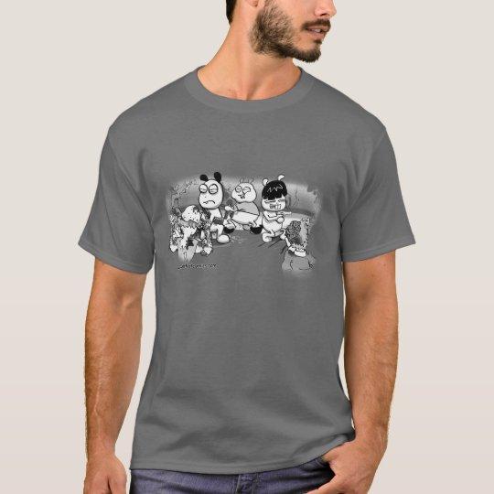 ChinChatComics Zombie Attack Chinchillas T-Shirt