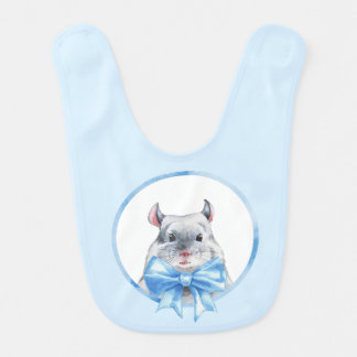 Chinchilla 1. Blue bow Bib