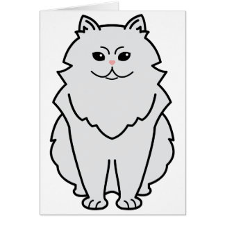 Chinchilla Cat Cartoon Card