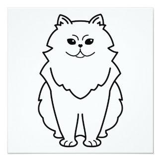 Chinchilla Cat Cartoon Invite