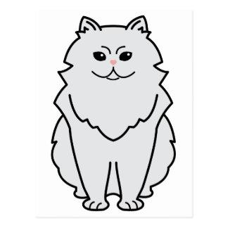 Chinchilla Cat Cartoon Post Card