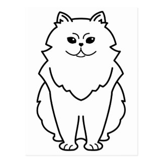 Chinchilla Cat Cartoon Post Cards