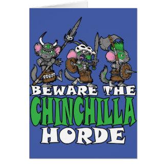 Chinchilla Horde Greeting Card