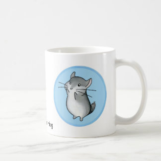Chinchilla hug basic white mug