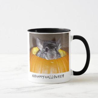 Chinchilla in pumpkin, BOO! HAPPY HALLOWEEN! Mug