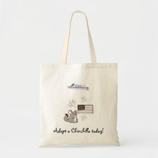 Chinchilla July 4th Budget Tote Bag