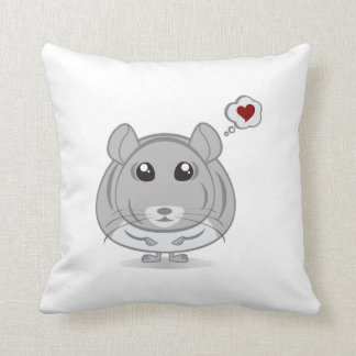 Chinchilla Love Thought Bubble Throw Pillow