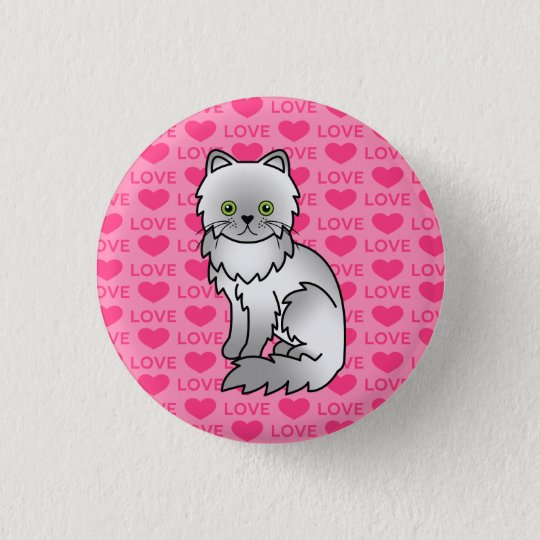 Chinchilla Persian 3 Cm Round Badge
