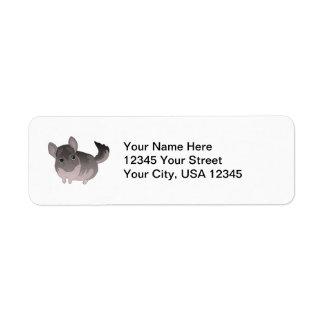 Chinchilla Return Address Label