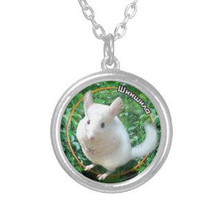 Chinchilla Round Pendant Necklace