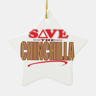 Chinchilla Save Christmas Ornament