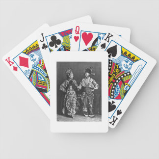 Chinese actors, c.1870 (b/w photo) bicycle playing cards