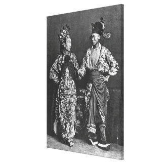Chinese actors, c.1870 (b/w photo) canvas print