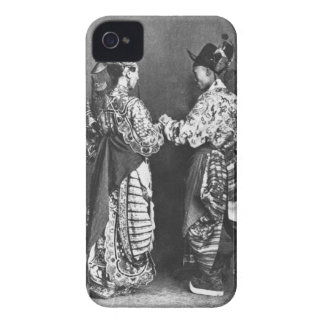 Chinese actors from behind, c.1870 (b/w photo) iPhone 4 cover