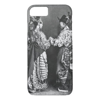 Chinese actors from behind, c.1870 (b/w photo) iPhone 8/7 case