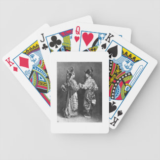 Chinese actors from behind, c.1870 (b/w photo) poker deck