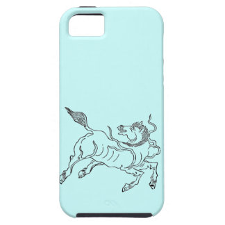 Chinese ancient sea horse black tough iPhone 5 case