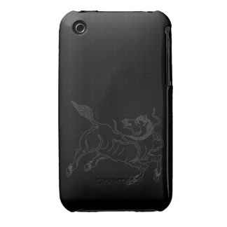 Chinese ancient sea horse white iPhone 3 Case-Mate cases