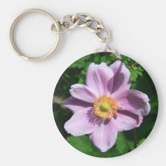Chinese Anemone Flower Keychain