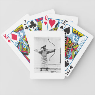 Chinese archer, c.1870 (b/w photo) bicycle playing cards