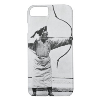 Chinese archer, c.1870 (b/w photo) iPhone 8/7 case