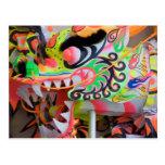 chinese art postcard