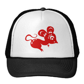 Chinese Astrology Rat Illustration Cap