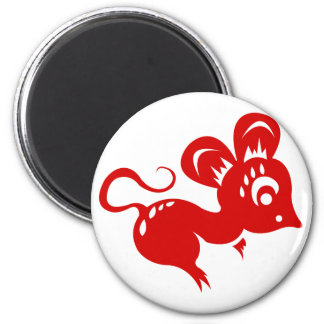 Chinese Astrology Rat Illustration Magnet