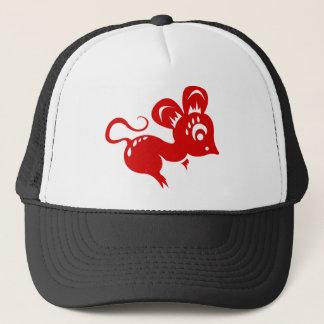 Chinese Astrology Rat Illustration Trucker Hat
