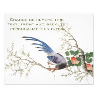 Chinese Bird Painting Custom Flyer