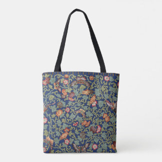 Chinese Blue Butterflies Tote