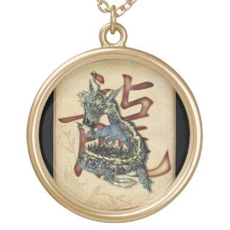 Chinese Blue Dragon Pendants