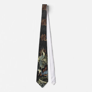 Chinese Blue Dragon Tie