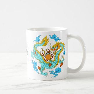 Chinese blue dragons (v7) mugs