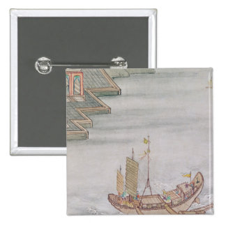 Chinese Boat 15 Cm Square Badge