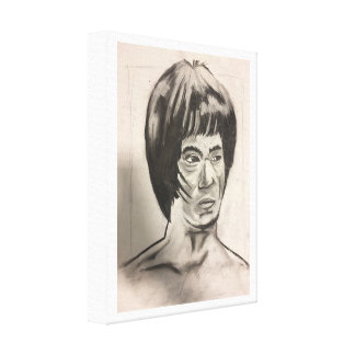 Chinese Boxer Art Sketch Canvas Print