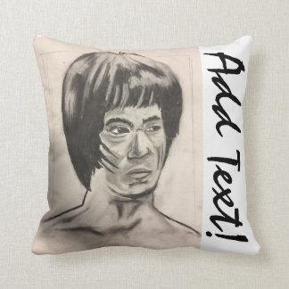 Chinese Boxer Art Sketch Throw Pillow