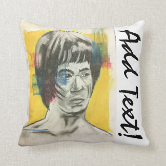 Chinese Boxer Art Throw Pillow