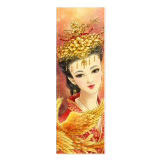 Chinese Bride with Phoenix Fantasy Bookmark Business Cards