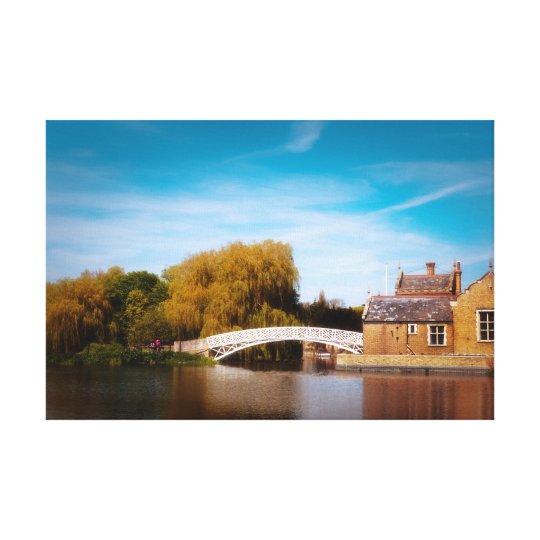 Chinese bridge at Godmanchester Canvas Print