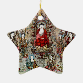 CHINESE BUDDHA PAINTING CHRISTMAS ORNAMENT