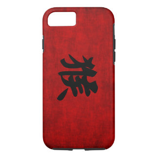 Chinese Calligraphy Symbol for Monkey in Red iPhone 7 Case