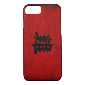 Chinese Calligraphy Symbol for Rooster in Red iPhone 7 Case